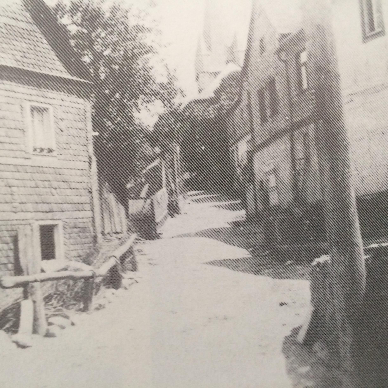 Farfar och farmors hus på Schustergasse i Rhaunen