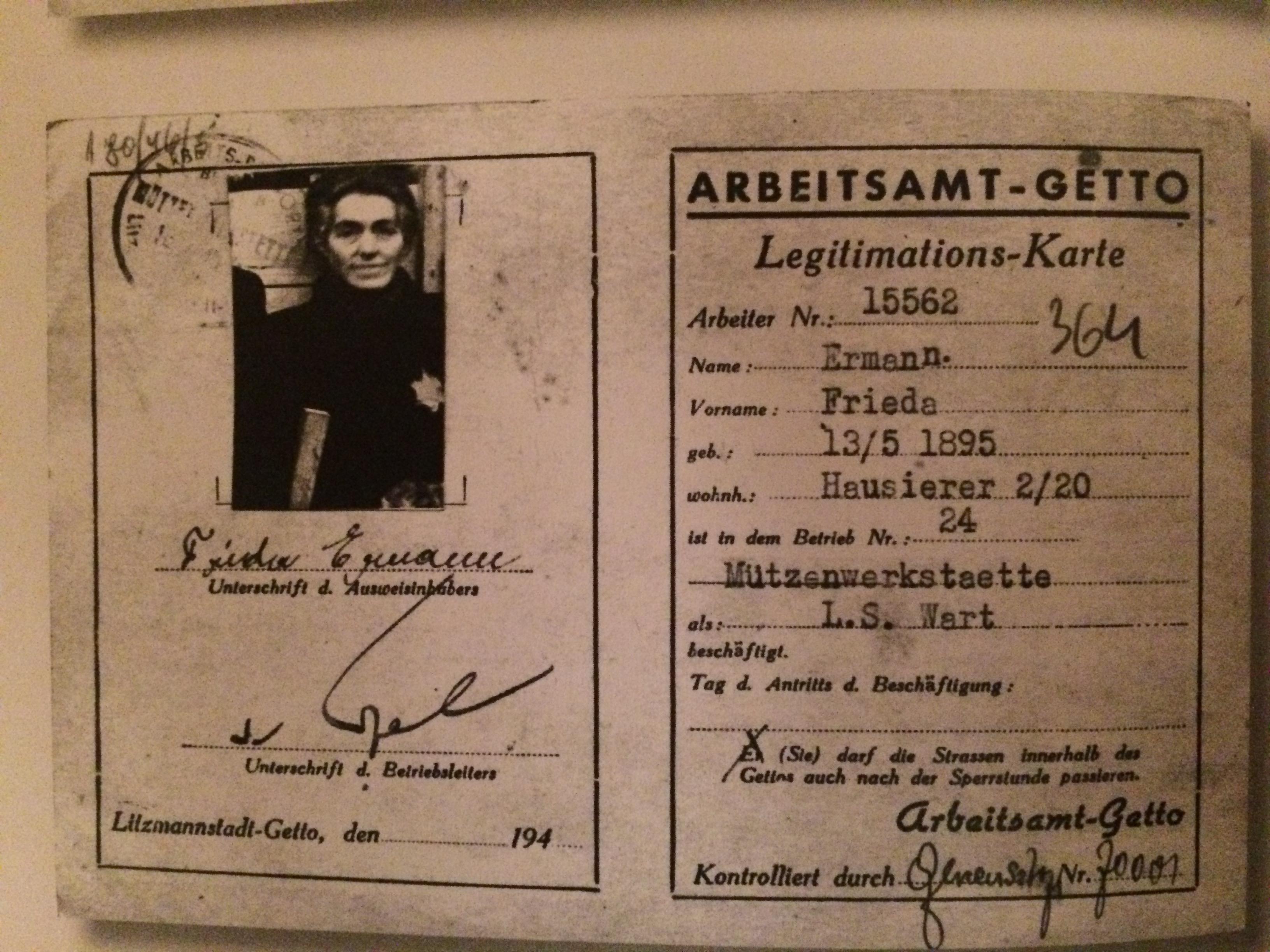 Frieda arbets ID